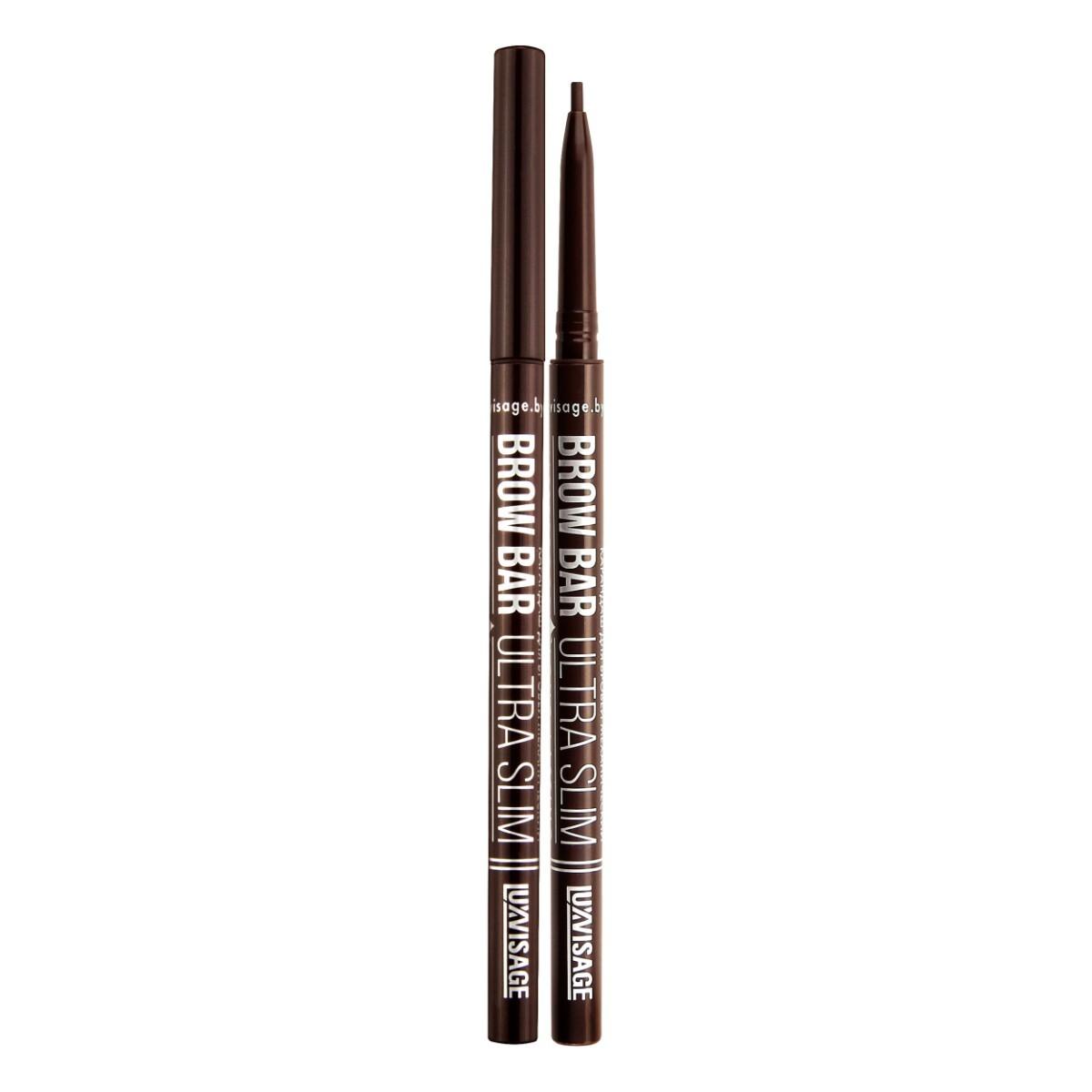Купить Карандаш для бровей luxvisage brow bar ultra slim тон 304 chocolate, УЛЬТРАТОНКИЙ МЕХАНИЧЕСКИЙ КАРАНДАШ ДЛЯ БРОВЕЙ BROW BAR ULTRA SLIM