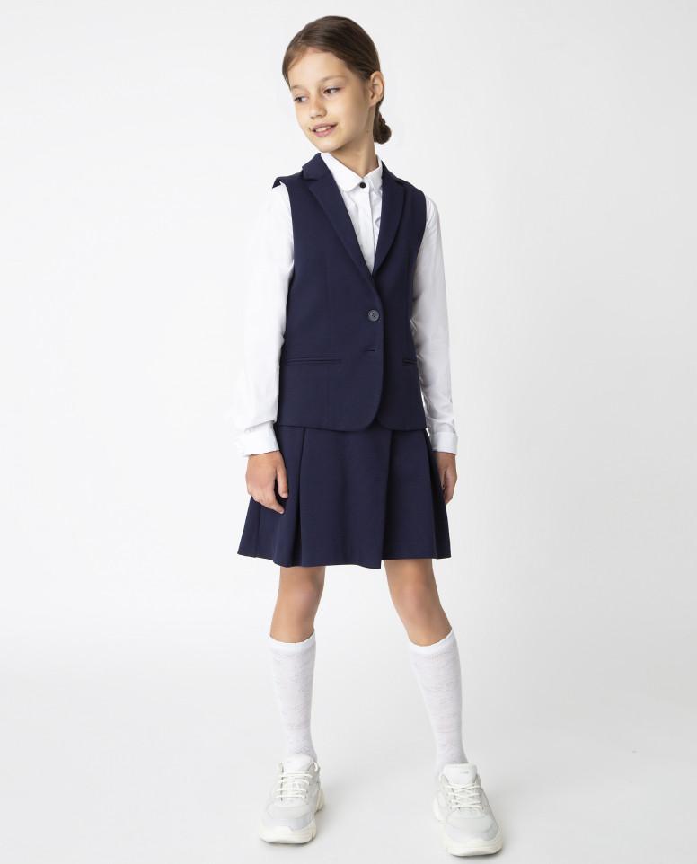 Синий жилет для девочек Gulliver, модель 220GSGC4701,