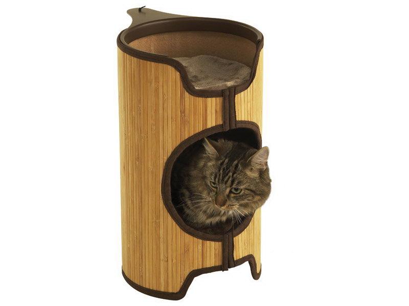 Лежанка для кошки Rosewood полиэстер, дерево 33x40x52см