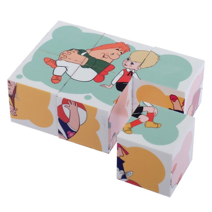 Купить Кубики Десятое Королевство Союзмультфильм Малыш и Карлсон, 6 шт., Развивающие кубики