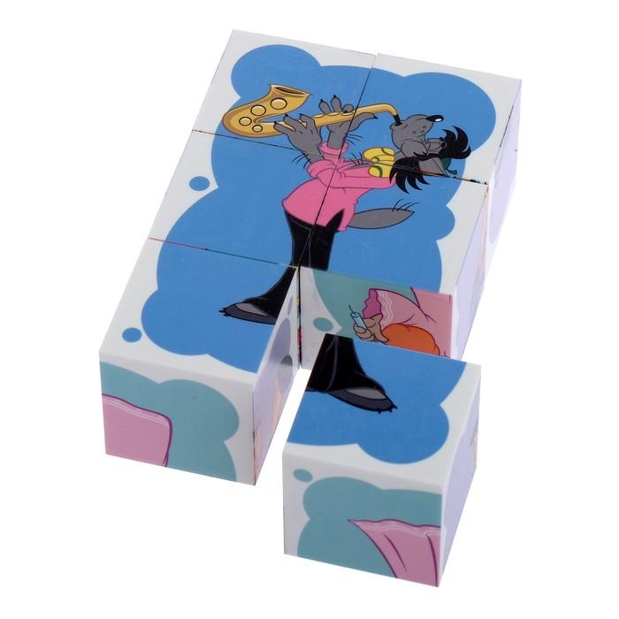 Купить Кубики Десятое Королевство Союзмультфильм Ну, погоди!, 6 шт., Развивающие кубики