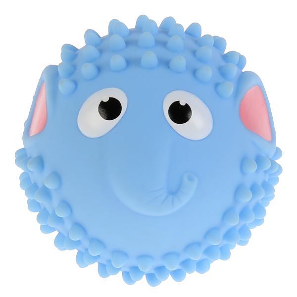 Купить Игрушка для купания Мячик-слон, голубой, 8 см Играем Вместе,