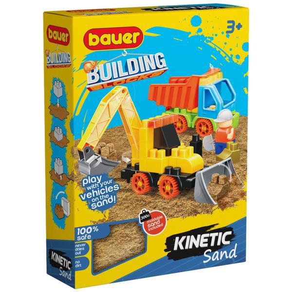 Конструктор Bauer Building Kinetic Стройка с кинетическим песком, с трактором и грузовиком