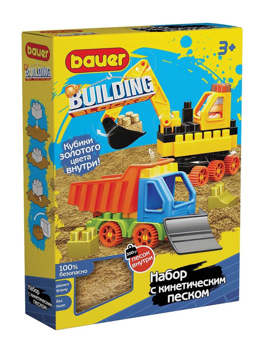 Конструктор Bauer Building Kinetic Стройка с бульдозером и грузовиком и кинетический песок