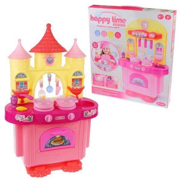 Купить Детская кухня Наша игрушка 11 предметов, со световыми и звуковыми эффектами