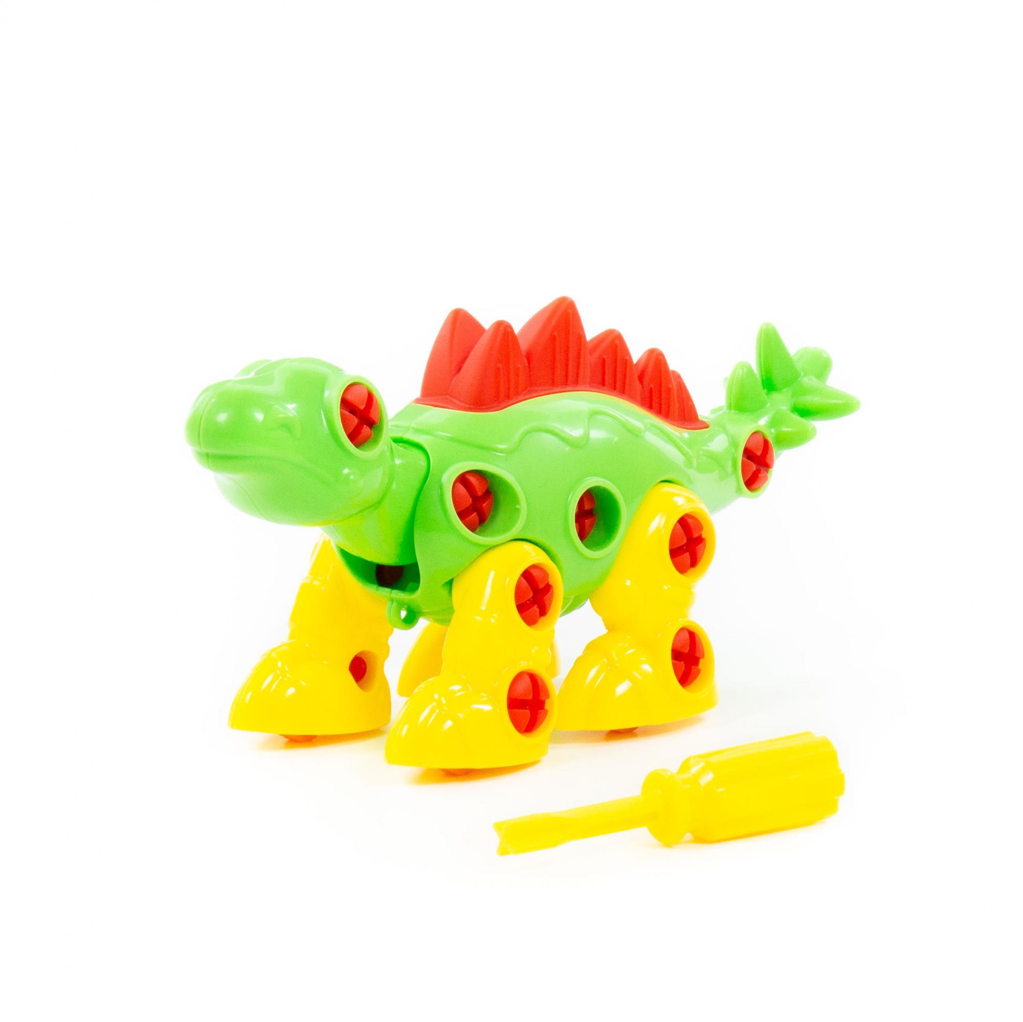 Купить Конструктор-динозавр Полесье Стегозавр, 30 деталей, Конструкторы пластмассовые