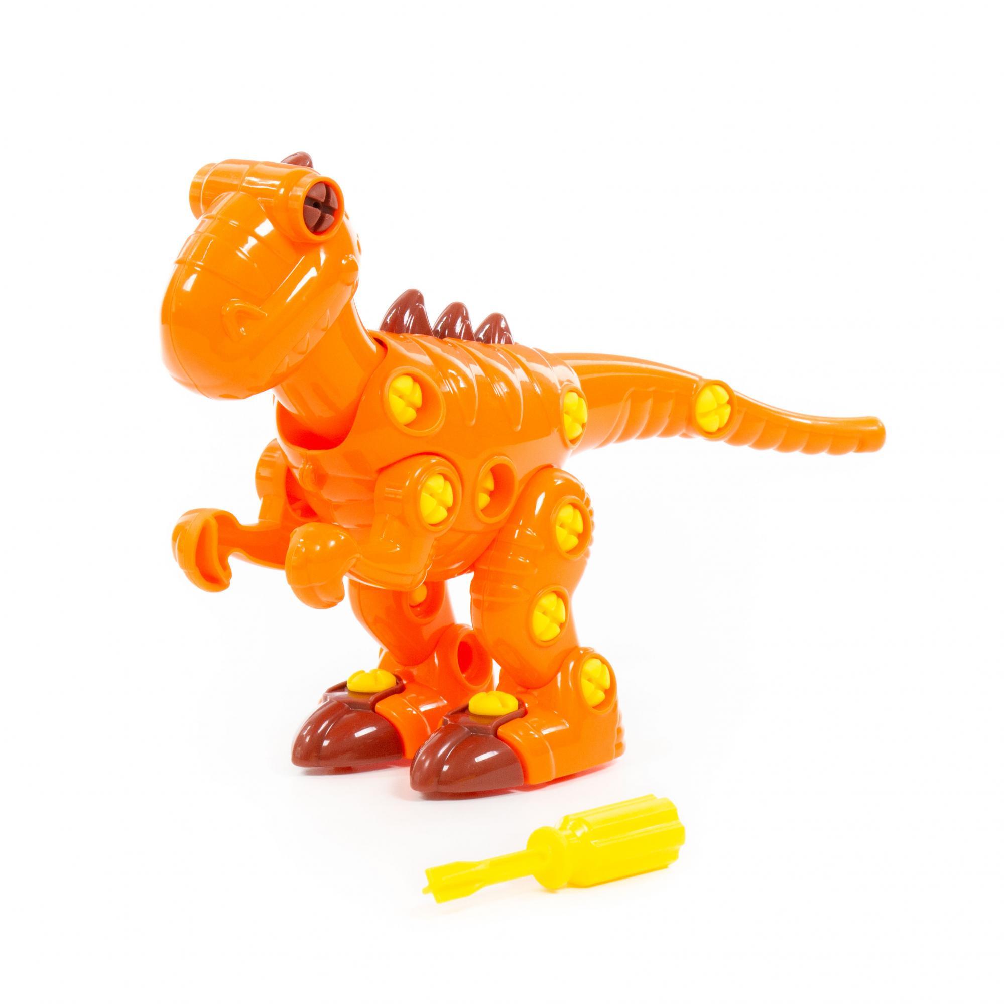 Купить Конструктор-динозавр Полесье Тираннозавр, 40 деталей, Конструкторы пластмассовые