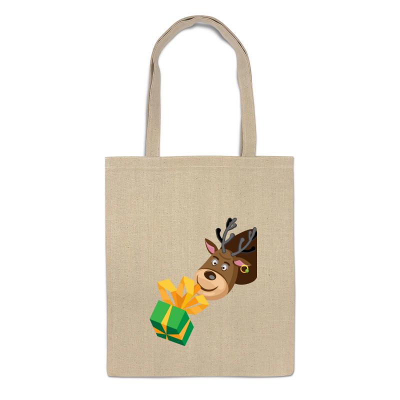 Сумка-шоппер Printio Олень с подарком