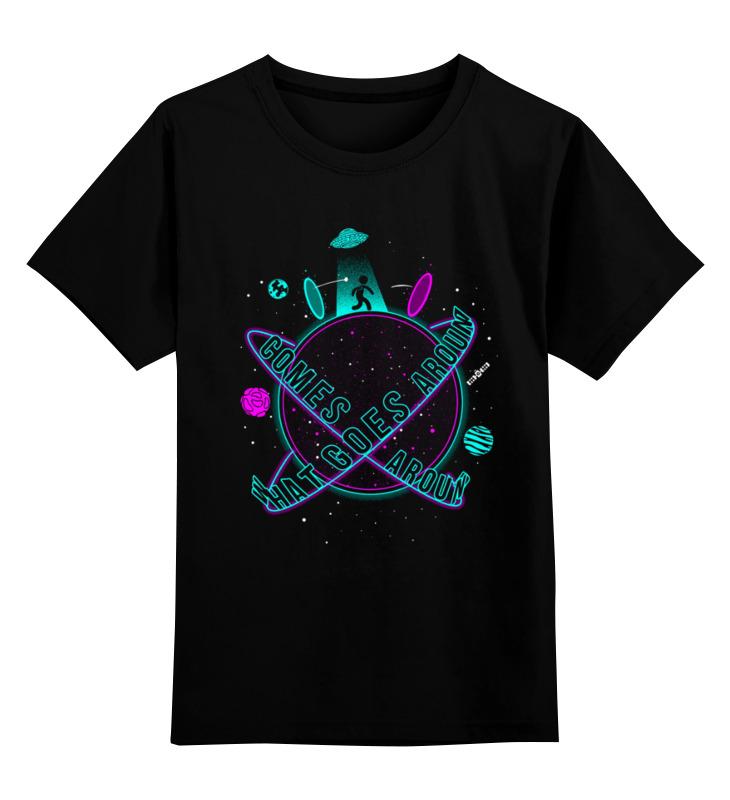 Детская футболка Printio Космос цв.черный р.152 0000003220538 по цене 990