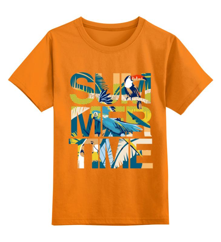 Детская футболка Printio Время лета цв.оранжевый р.152 0000003307844 по цене 990