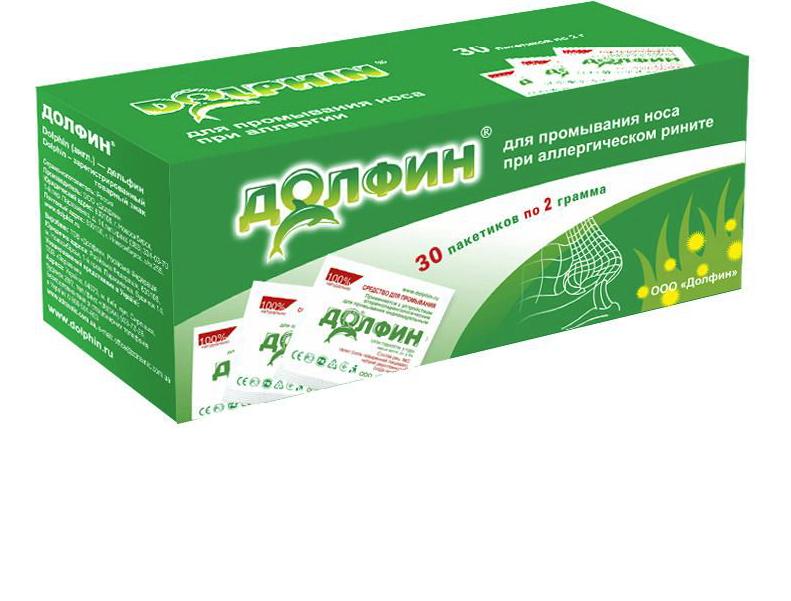Купить Долфин Средство гигиенич. для промывания носоглотки для врослых пак. 2 г №30 при аллергии, Alvogen