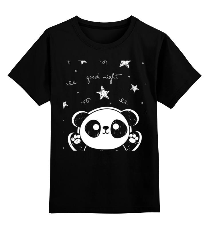 Детская футболка Printio Панда цв.черный р.140 0000003318174 по цене 990