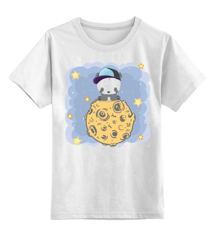 Детская футболка Printio Панда на луне цв.белый р.140 0000003318177 по цене 790
