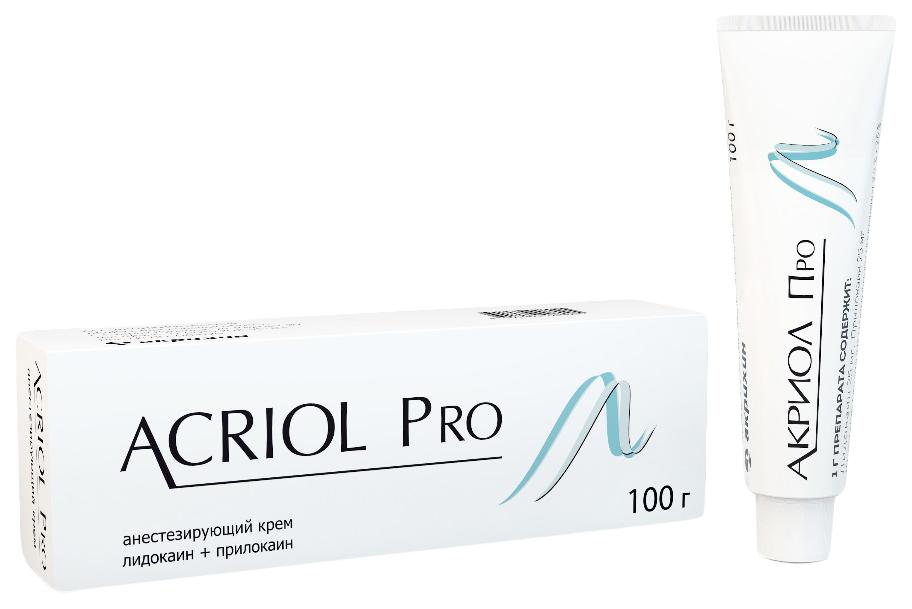 Акриол Про крем для мест. и наруж. прим.2,5%+2,5% 100 г