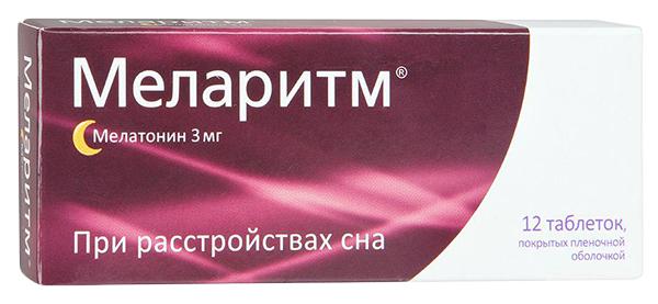 Меларитм таблетки, покрытые пленочной оболочкой 3 мг №12