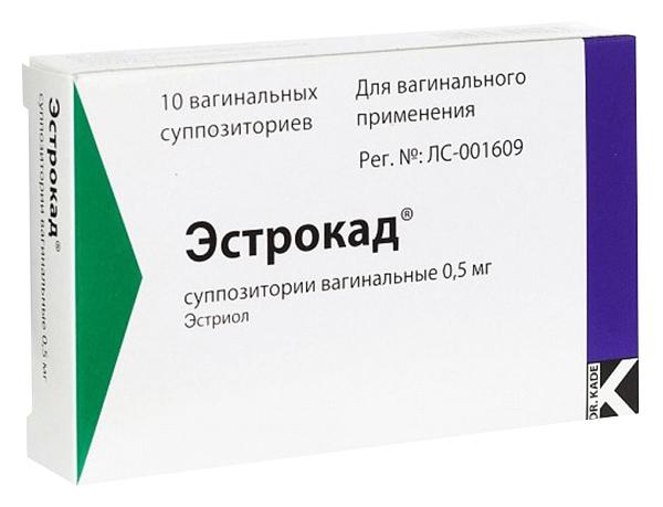 Эстрокад супп. ваг. 0,5 мг №10