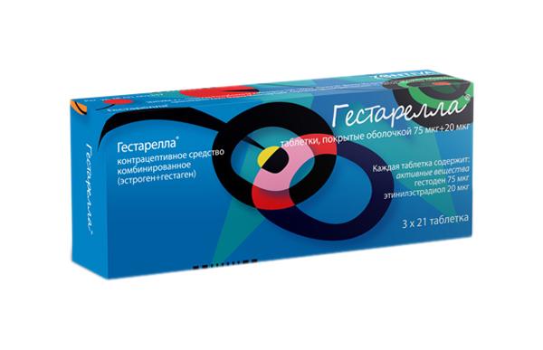 Гестарелла таблетки, покрытые оболочкой №21х3