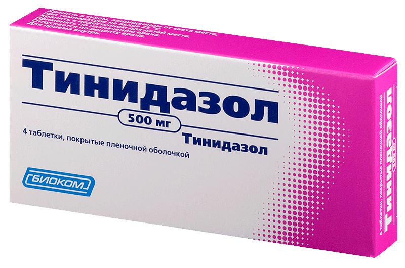 Тинидазол тб 500 мг N4