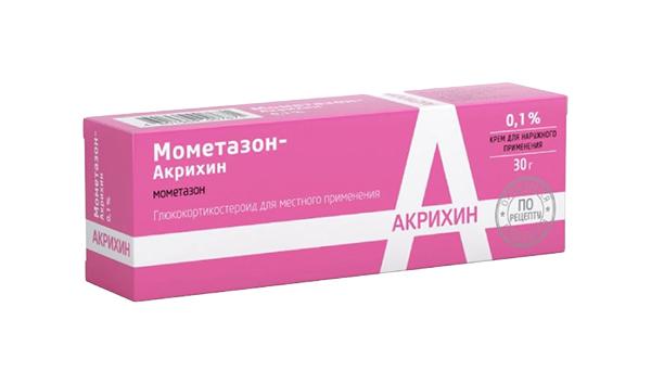 Мометазон-Акрихин крем для наруж.прим.0,1% 30 г