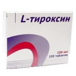 Л тироксин 100 таблетки 100мкг 100 шт.
