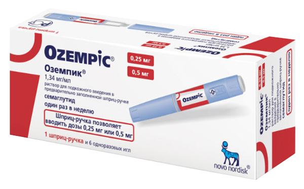 Купить Оземпик раствор для п/к введ.1, 34 мг/мл шприц-ручка с иглами 1, 5 мл №6, Novo Nordisk
