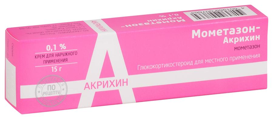 Мометазон-Акрихин крем для наруж.прим.0,1% 15 г