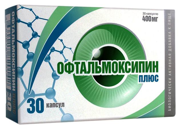 Купить Офтальмоксипин Плюс капсулы 400 мг №30, Алина фарма