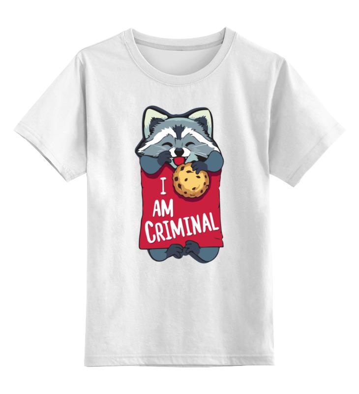 Детская футболка Printio I am criminal цв.белый р.140 0000003414011 по цене 790