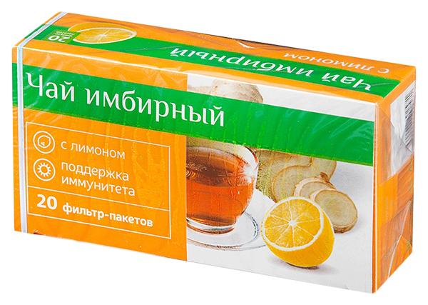 PL Чай Имбирный при простуде с Лимоном фильтр-пакет Юником 20 шт.