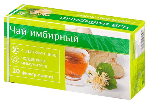 PL Чай Имбирный при простуде с Цветками Липы фильтр-пакет Юником 20 шт.