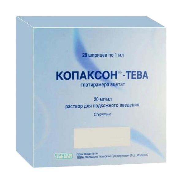 Копаксон Тева раствор для п/к введ.20 мг/мл