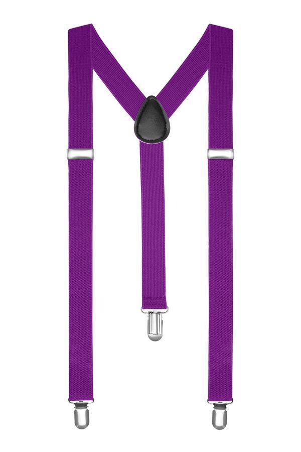 Подтяжки 2beMan пурпурные PDT28