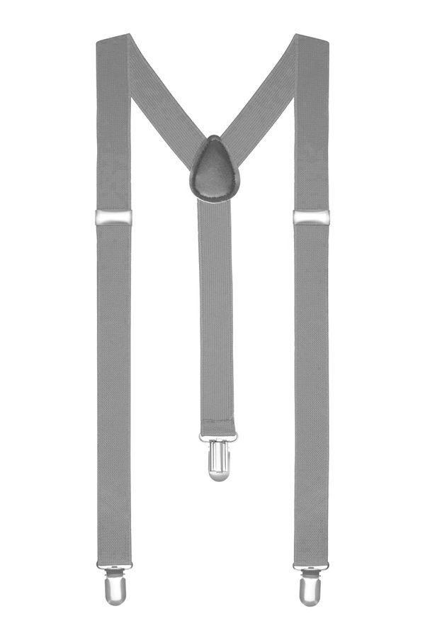 Подтяжки 2beMan светло серые PDT31
