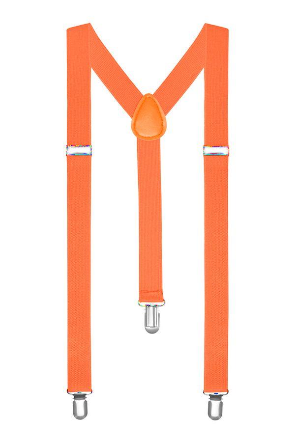 Подтяжки 2beMan неоново оранжевые PDT30