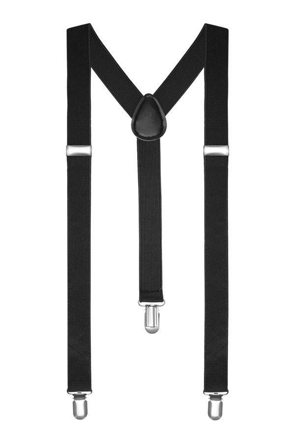 Подтяжки 2beMan классические черные PDT01
