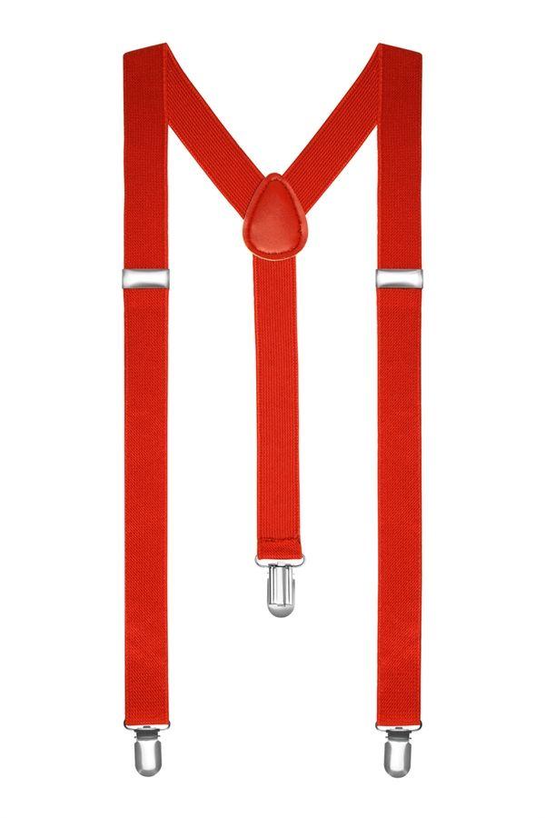 Подтяжки 2beMan классические красные PDT05