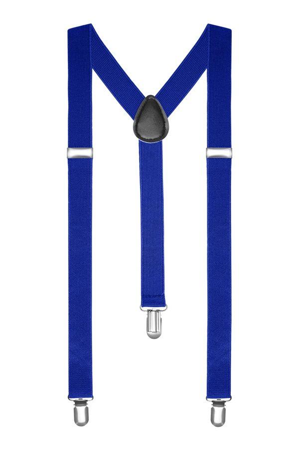 Подтяжки 2beMan классические синие PDT07