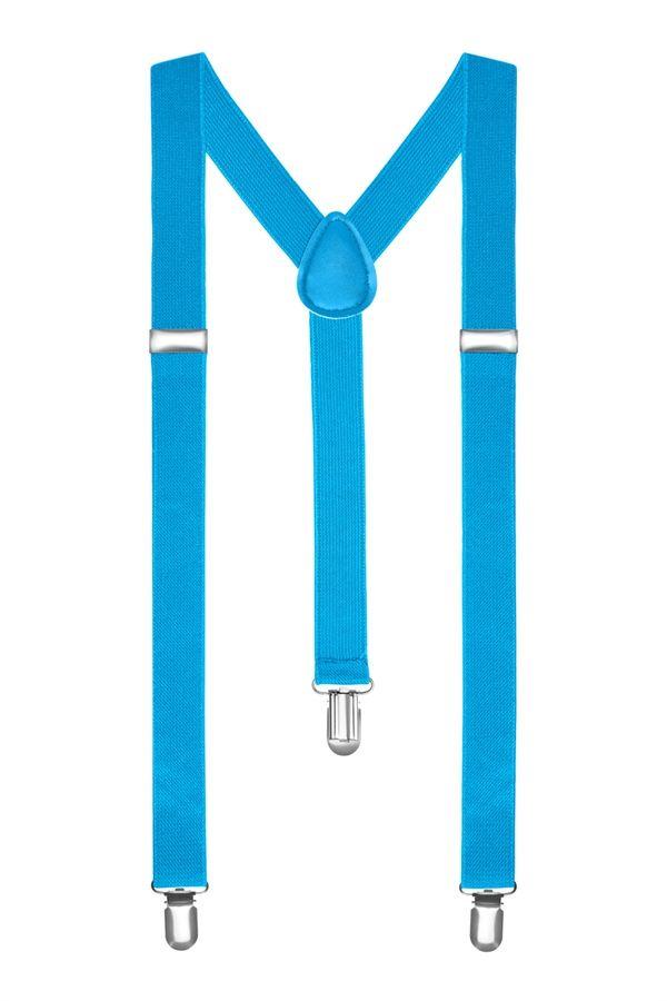 Подтяжки 2beMan классические голубые PDT08