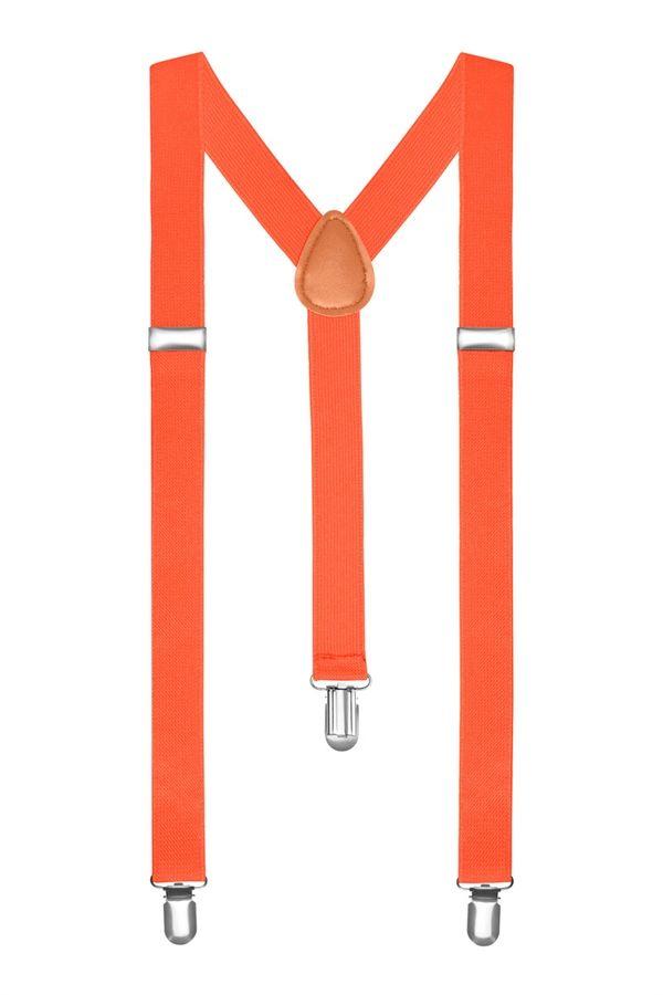 Подтяжки 2beMan классические оранжевые PDT13