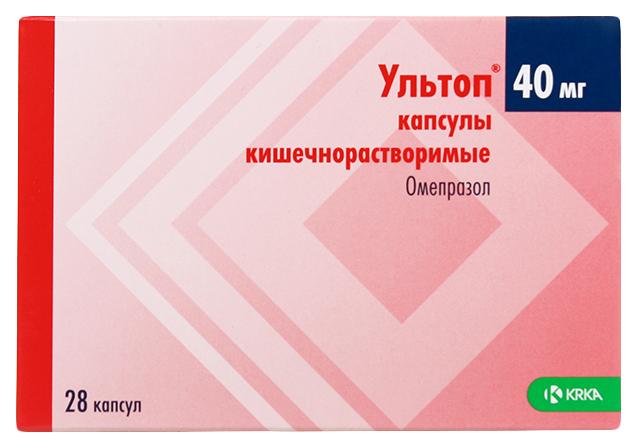Ультоп капс 40 мг №28 блистер