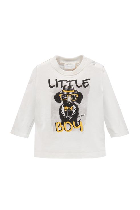Купить 183MDFL001, Джемпер для мальчика MEK, цв.белый, р-р 86, Кофточки, футболки для новорожденных