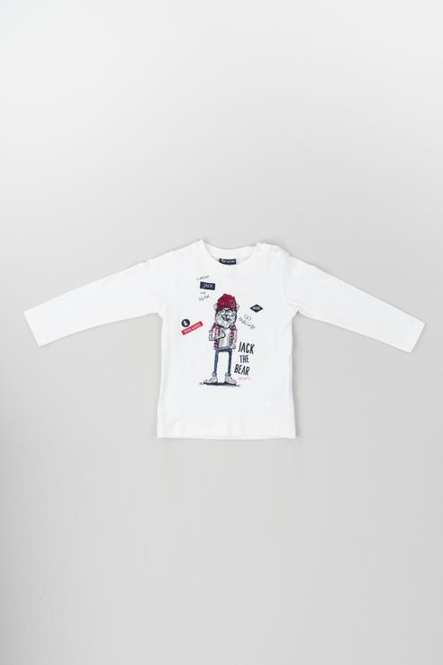 Купить 183BDFL006, Джемпер для мальчика Brums, цв.белый, р-р 74, Кофточки, футболки для новорожденных