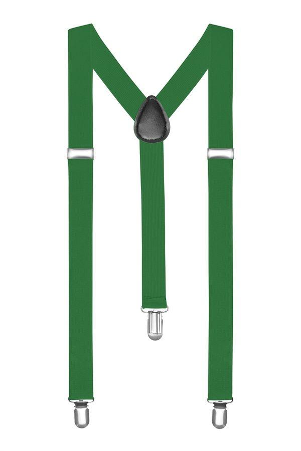 Подтяжки 2beMan классические зеленые PDT21
