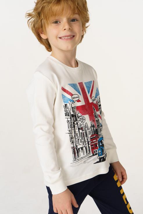 Купить 4.V533.00, Джемпер для мальчика iDO, цв.белый, р-р 86, Кофточки, футболки для новорожденных