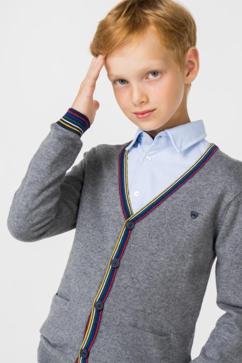 Купить 4334, Джемпер для мальчика Mayoral, цв.серый, р-р 92, Кофточки, футболки для новорожденных