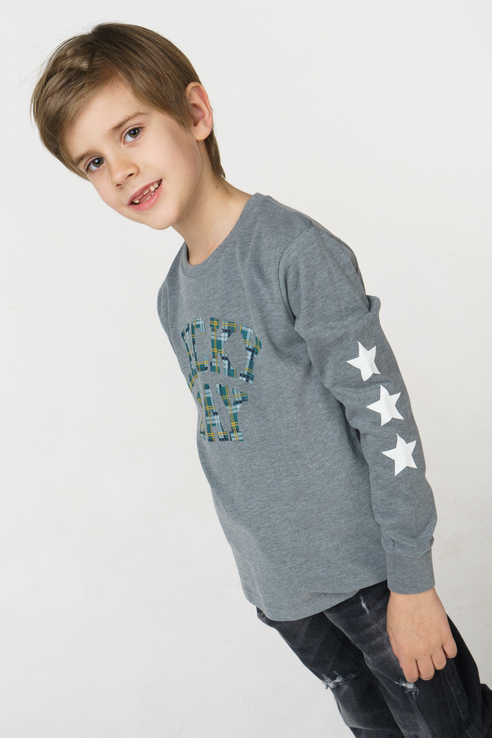 Купить 4.V523.00, Джемпер для мальчика iDO, цв.серый, р-р 92, Кофточки, футболки для новорожденных