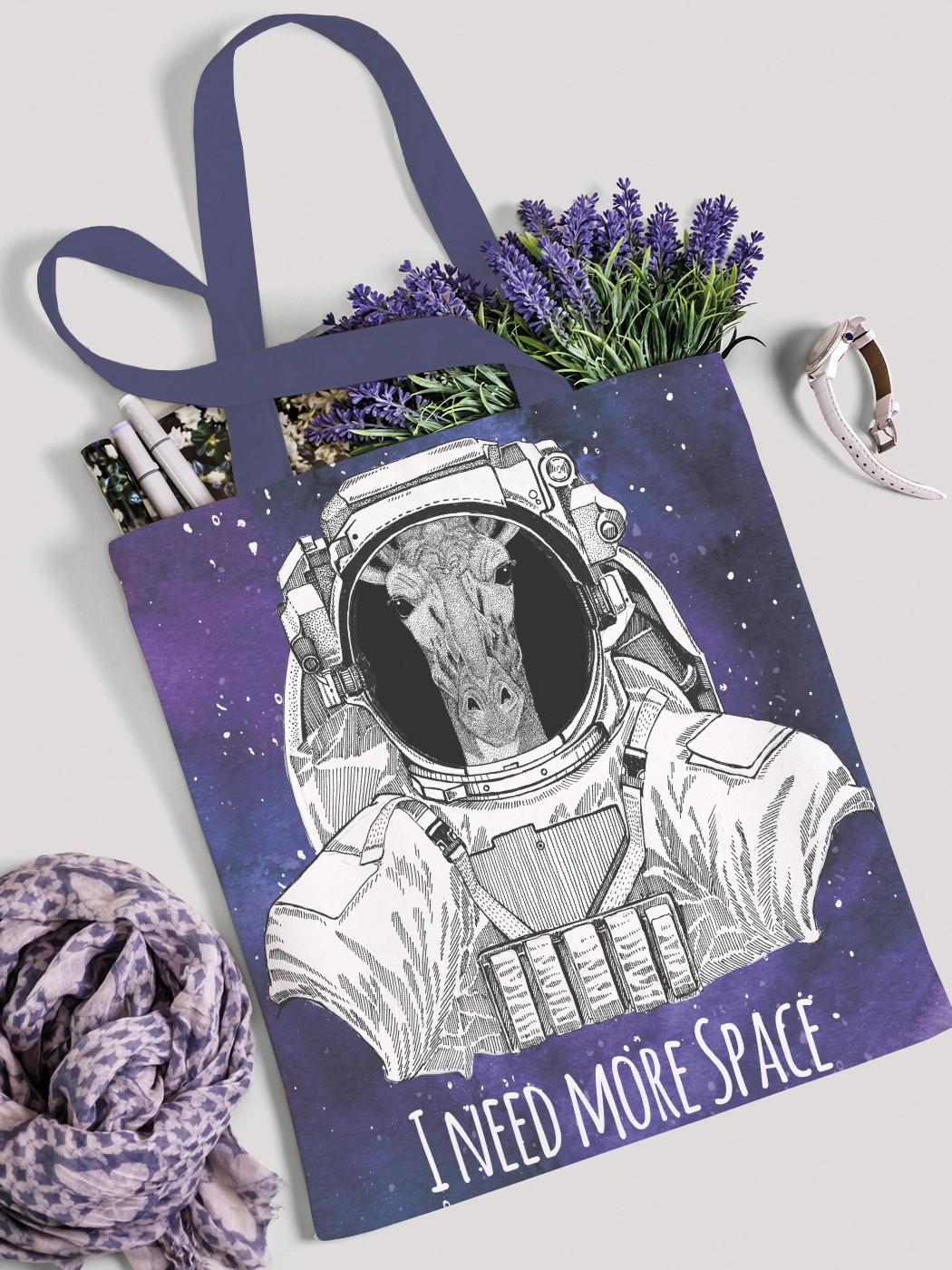 Сумка женская JoyArty Жираф в космосе фото