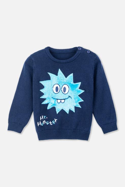 Купить 397158, Джемпер для мальчика PlayToday, цв.синий, р-р 74, Play Today, Кофточки, футболки для новорожденных