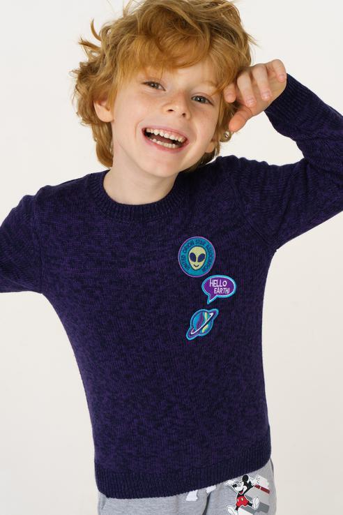 Купить JR-714/186-8412, Джемпер для мальчика Sela, цв.синий, р-р 98,