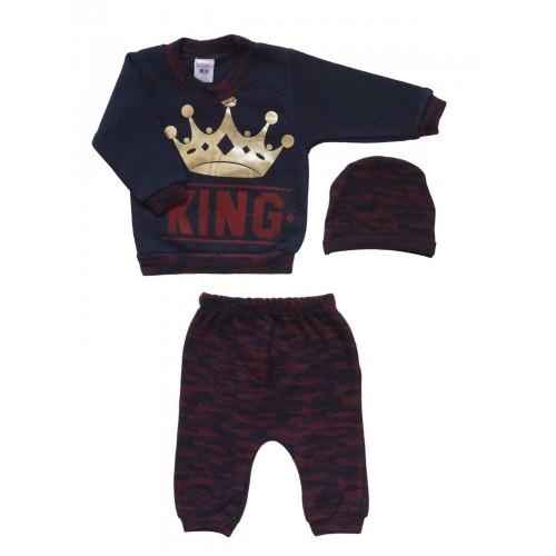 Купить 2019-01, Комплект для мальчиков BABY BOSS, цв. синий, р-р 80, Детские костюмы